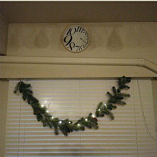 女性48歳の家族暮らし2LDK、ガーランドOn Wallsやクリスマスやナイトバージョンやウッドブラインドなどに関するheart.emiemi57.whiteさんの実例写真