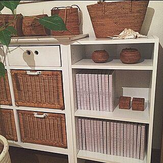 女性家族暮らし3LDK、無印良品 アルバムMy Shelfや収納や整理収納部や無印良品などに関するasamiさんの実例写真