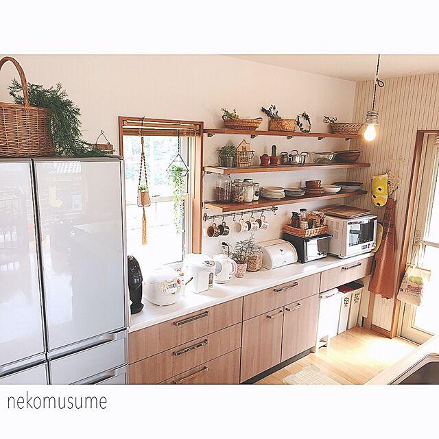 Kitchen,見せる収納,オープン収納,キッチン収納,タカラスタンダード,オープン棚,キッチン背面収納,山善収納部,見せる派のインテリア実例   RoomClip (ルームクリップ)