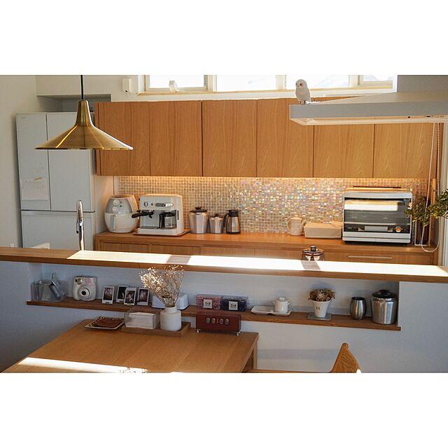 Kitchen,照明,ペンダントライト,flame,造作棚のインテリア実例 | RoomClip (ルームクリップ)