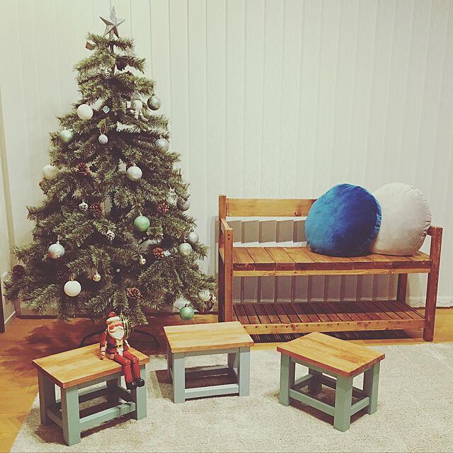 Lounge,無印良品,ハンドメイド,DIY,キッズスペース,クリスマスツリー,バーチカルブラインド,簡単DIY,踏み台DIY,たくさんのいいねありがとうございます♡,ベンチ DIY,いいね!ありがとうございます◡̈♥︎,シンプル&ナチュラル,○△□,ブルーグレイ × ピスタチオグリーン,踏み台 兼 イス・ミニテーブル,冬でも寒色のインテリア実例 | RoomClip (ルームクリップ)