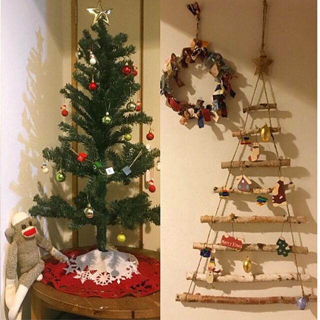 On Walls,雑貨,100均,ニトリ,セリア,salut!,クリスマス,団地,クリスマスツリー,クリスマスリース,チョコレート,ソックモンキーのインテリア実例 | RoomClip (ルームクリップ)