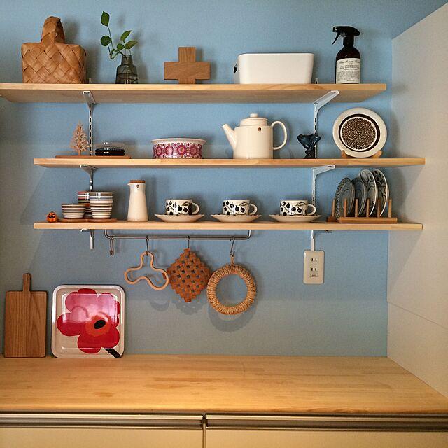 Kitchen,無印良品,IKEA,食器棚,雑貨,マリメッコ,アラビアのインテリア実例 | RoomClip (ルームクリップ)