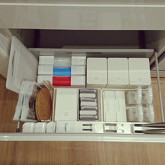 Kitchen/ニトリ/セリア/ダイソー/ラベルシール...などのインテリア実例