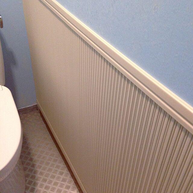 Bathroom/マリンテイスト/腰壁革命/ペンキでペイント/壁紙屋本舗...などのインテリア実例