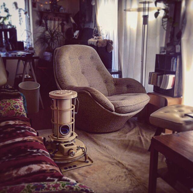 Lounge,照明,アンティーク,北欧,アラジン,アラジンストーブ,アラジンストーブのある生活のインテリア実例   RoomClip (ルームクリップ)