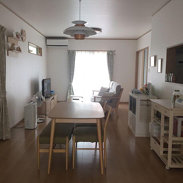 Lounge/照明/キッチンワゴン/ダイニングテーブル/シンプルナチュラル...などのインテリア実例