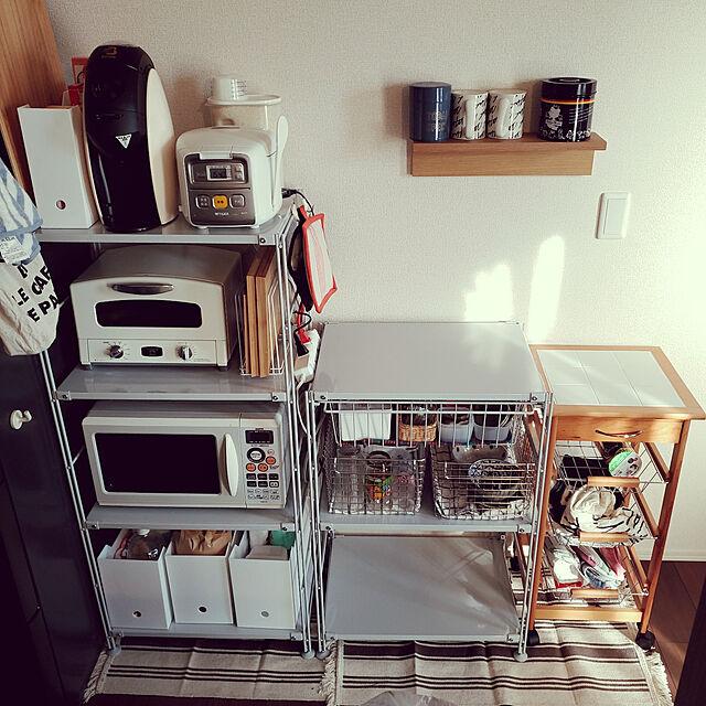 Kitchen/ひとり暮らし/賃貸アパート/d-room/収納...などのインテリア実例