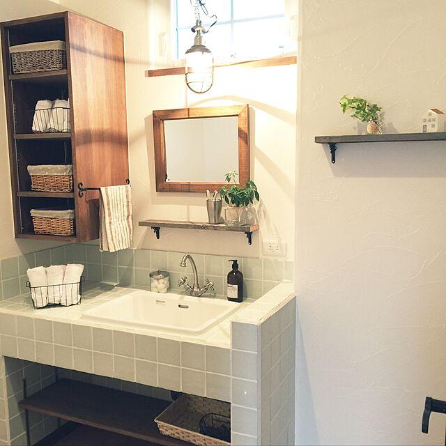 Bathroom,照明,ナチュラル,北欧のインテリア実例 | RoomClip (ルームクリップ)