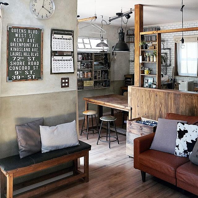 Lounge,DIY,カフェ風,ビンテージ,ペンダントライト,アトリエ,インダストリアル,壁面収納,DIY女子,男前,セルフリノベーション,古民家風,ブログよかったら見てみて下さい♩,インスタID→maca_homeのインテリア実例 | RoomClip (ルームクリップ)