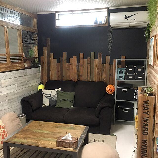 Lounge,IKEA,100均,DIY,リメイク,ニトリ,板壁,パーティション,フェイクグリーン,模様替え,Daiso,プラダン,壁紙屋本舗,いなざうるす屋さん,しゃれとんしゃあ会,関西好きやねん会,こたつ天板DIY,インスタ→Shakitro,GREENのある暮らし,RC奈良支部のインテリア実例 | RoomClip (ルームクリップ)