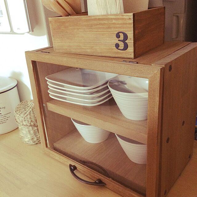 Kitchen,DIY,リメイク,セリア,木箱のインテリア実例 | RoomClip (ルームクリップ)
