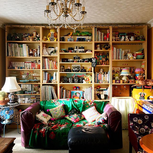 My Shelf,本棚,カラフル,レトロ,イギリス,ヴィンテージ,海外生活,グラニースタイル,ヴィンテージカメラのインテリア実例 | RoomClip (ルームクリップ)