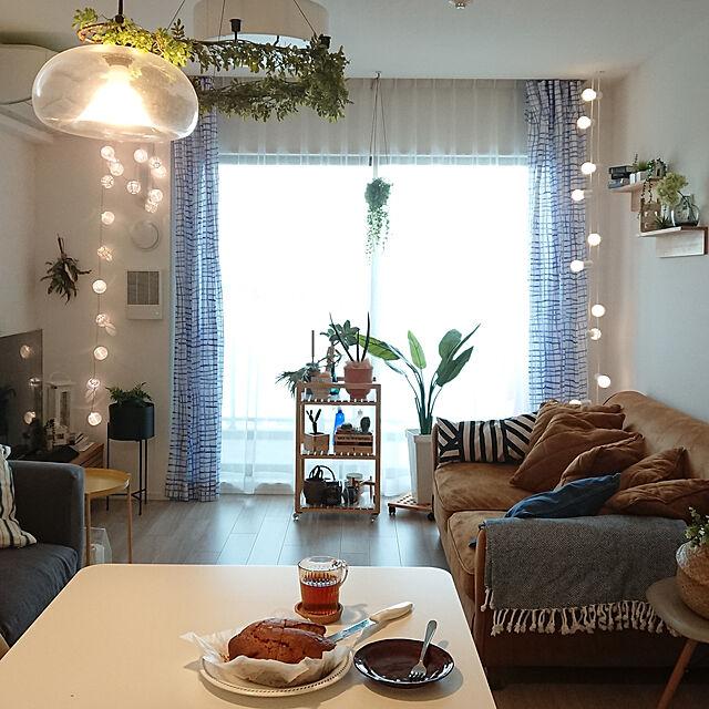 Overview/マンション暮らし/マンションインテリア/照明/IKEAのカーテン...などのインテリア実例