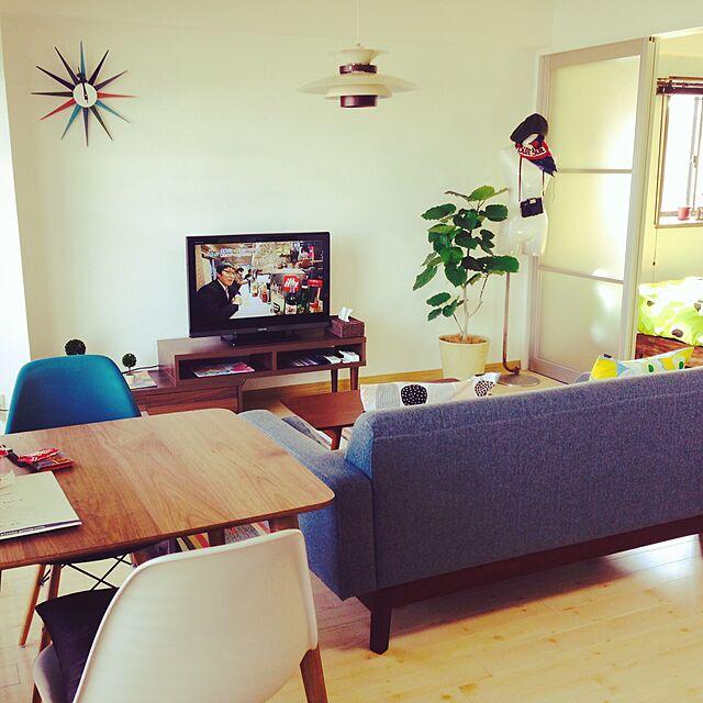 Overview,一人暮らし,北欧,ウンベラータ,イームズチェアリプロダクトのインテリア実例   RoomClip (ルームクリップ)