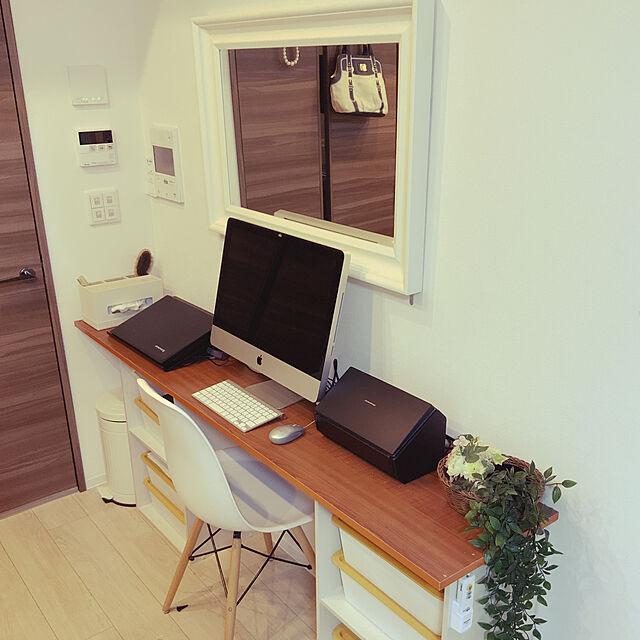 My Desk,ダイソー,DIY,一人暮らし,イームズチェアのインテリア実例   RoomClip (ルームクリップ)