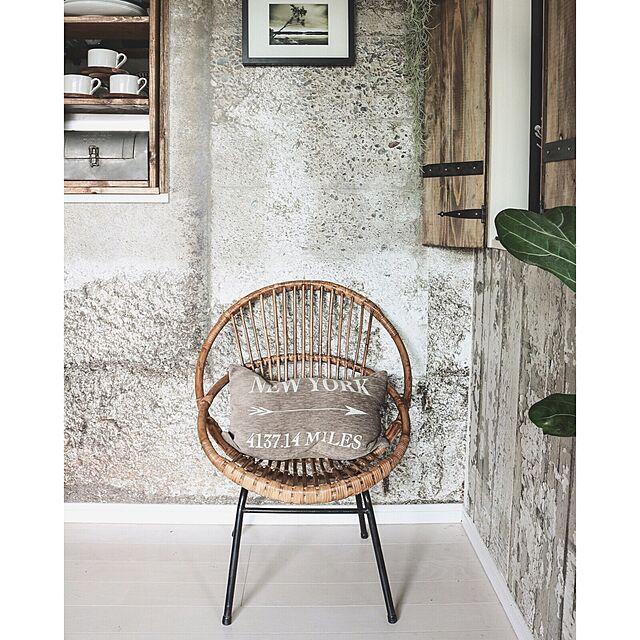 On Walls,アンティーク,DIY,輸入壁紙,男前,セルフリノベーション,Rustic,フランスアンティーク,ラタンチェア,アメブロやってます♡,インスタやってます♡,ヴィンテージスタイルのインテリア実例 | RoomClip (ルームクリップ)