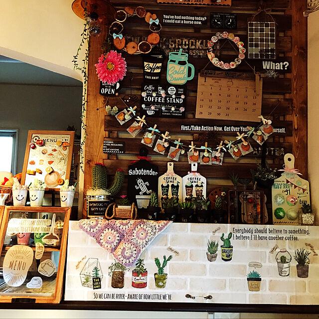 Bathroom,棚♡,Miyuちゃんのサボさん♡,Miyuちゃんのステンシルボード♡,akanegumo ちゃんの編み編み♡のインテリア実例 | RoomClip (ルームクリップ)