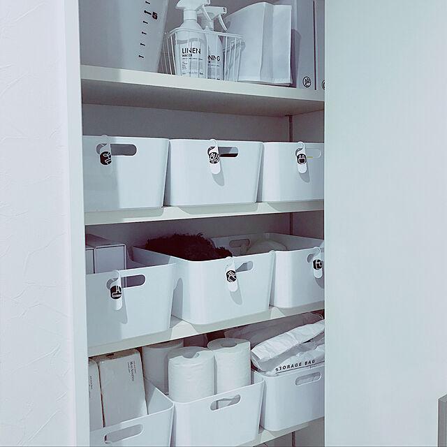 My Shelf/IKEA/収納/モノトーン/塩系...などのインテリア実例