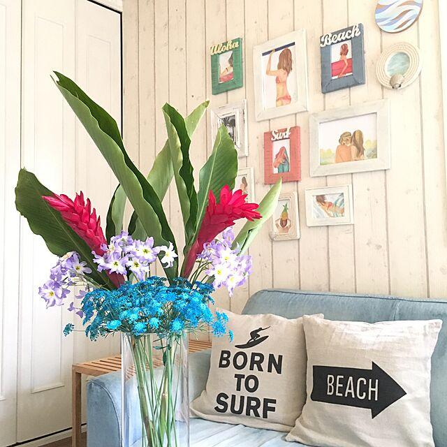 Lounge,フラワーアレンジメント,カリフォルニアスタイル,RC千葉支部,ビーチハウス風,西海岸インテリア,TiffanyT world,花を生ける暮らしのインテリア実例   RoomClip (ルームクリップ)