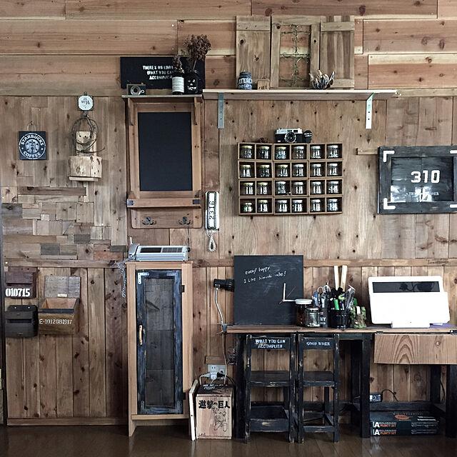 Lounge,ワイヤークラフト,DIY棚,DIY板壁,リメ瓶,DIY窓枠,旅人の木,のほほん日和☆のインテリア実例 | RoomClip (ルームクリップ)