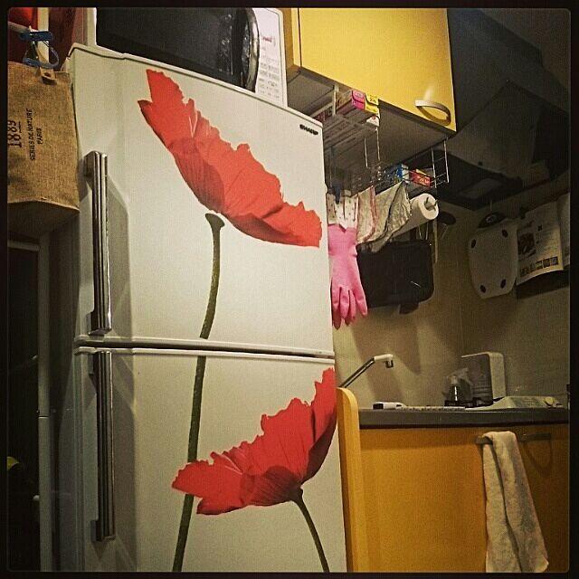キッチン/冷蔵庫/ウォールステッカー/IKEAデコシール/IKEA...などのインテリア実例 - 2014-02-27 21:36:07