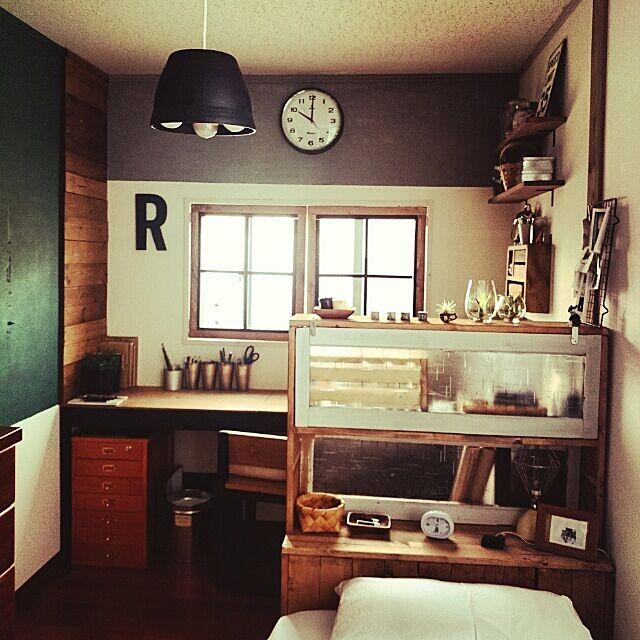 ニッセンと寝室と塩系インテリアに憧れるのインテリア実例