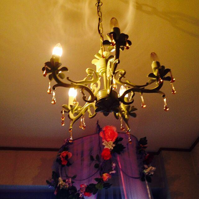 壁/天井/照明/シャンデリアに憧れて…/北欧/アンティーク...などのインテリア実例 - 2014-03-15 18:09:20