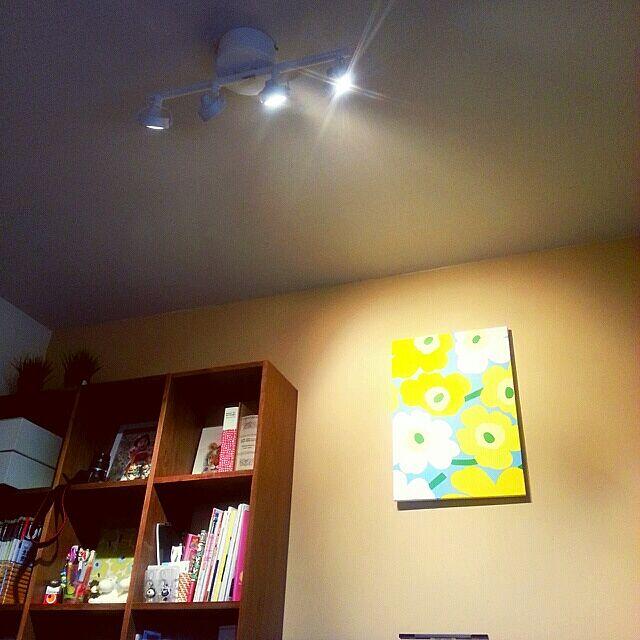壁/天井/marimekko/ファブリックボード/IKEA 照明/アクセントウォール...などのインテリア実例 - 2014-03-14 15:04:16