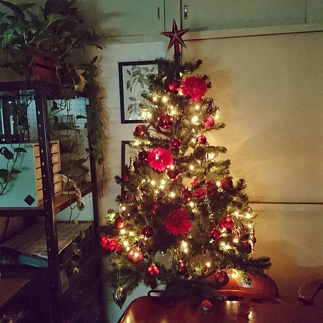 リビング/クリスマス/団地/築30年団地/団地住まい/クリスマスツリーのインテリア実例 - 2018-12-26 00:01:19