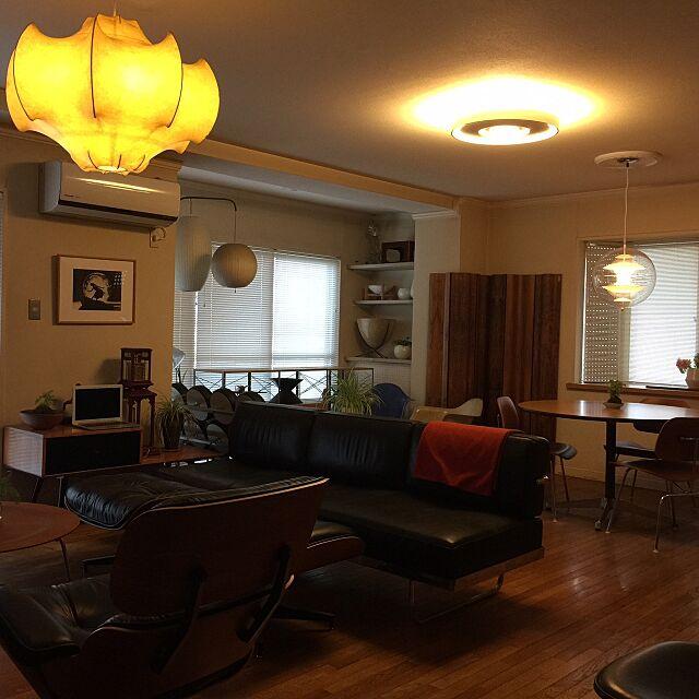 Herman Miller (ハーマンミラー)とヴィンテージとパントンランプのインテリア実例