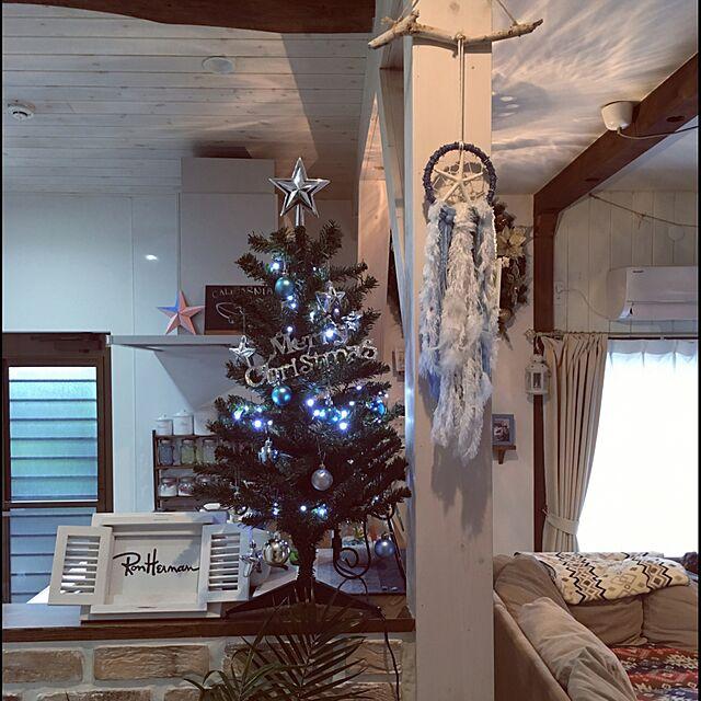 ニトリとクリスマスツリーとコンパクトハウスのインテリア実例