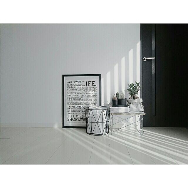 Lounge,白黒,モノトーン,がんばっぺ福島!,A.Y.A.M.E. 検索用,Instagramやってます♥,IG→uco122のインテリア実例   RoomClip (ルームクリップ)