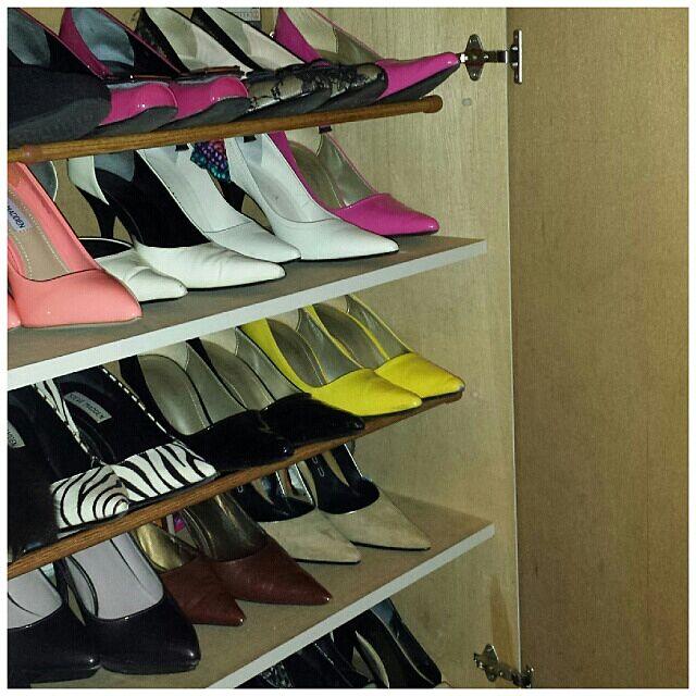 靴好き過ぎる/セリア\u2026などのインテリア実例 , 2013,11,17 165933