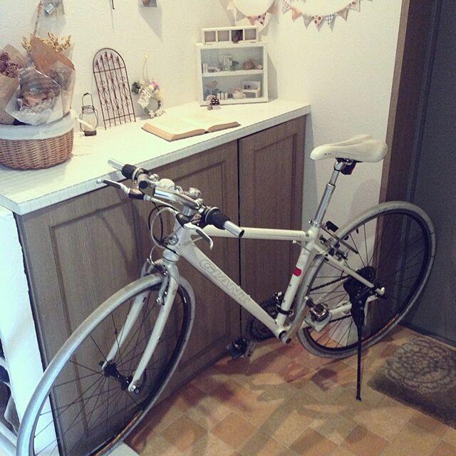 玄関/入り口/クロスバイク/自転車のインテリア実例 - 2014-01-16 16:14:12