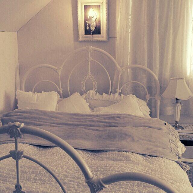 ニッセンと寝室とブルー&ホワイトのインテリア実例