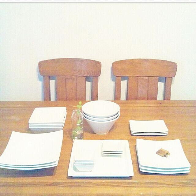 壁/天井/うちのホワイト食器/白食器/テーブルウェア ファクトリー/スクエア プレート...などのインテリア実例 - 2019-03-11 21:38:54