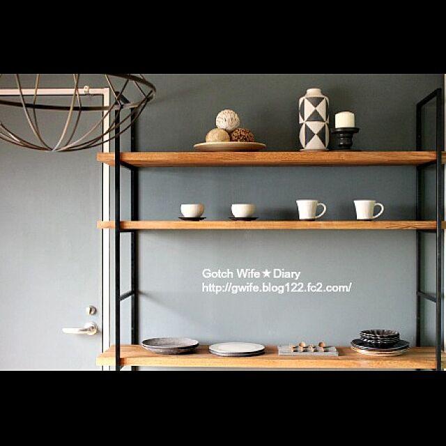 DIY /DIY棚/作家もの器/Gemma 照明/信楽焼き器...などのインテリア実例 - 2016-05-27 23:50:19