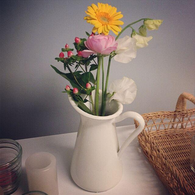 ベッド周り/IKEA/花瓶のインテリア実例 - 2014-01-20 16:29:49