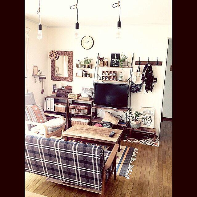 Lounge,ラグ,キリム,男前も可愛いも好き,娘インフル中につき。のインテリア実例 | RoomClip (ルームクリップ)