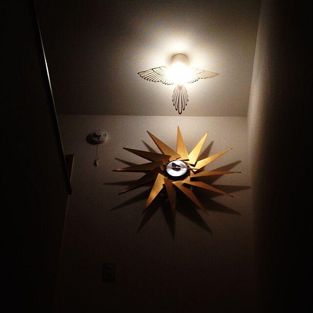 壁/天井/一人暮らし/雑貨/照明/時計...などのインテリア実例 - 2014-03-04 23:21:11