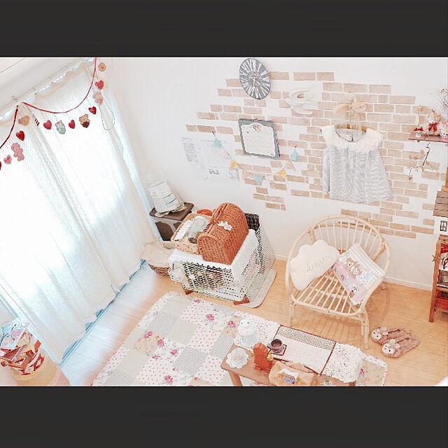 Overview,ナチュラル,インテリア,雑貨,アンティーク,一人暮らし,ディズニー,salut!,1K,カントリー,ナチュラルキッチン,癒し*´`*,うさぎと暮らす,ロフトのある部屋,お部屋作りのインテリア実例   RoomClip (ルームクリップ)