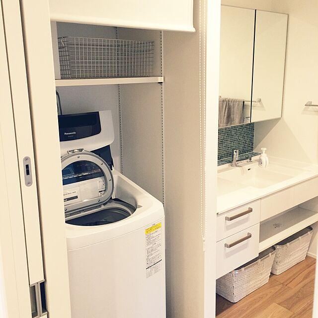 Panasonic (パナソニック)と洗濯機とドラム式洗濯機のインテリア実例