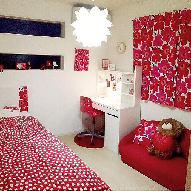 IKEA/子供部屋/赤/マリメッコ/花モチーフ...などのインテリア実例 - 2015-04-29 14:39:59