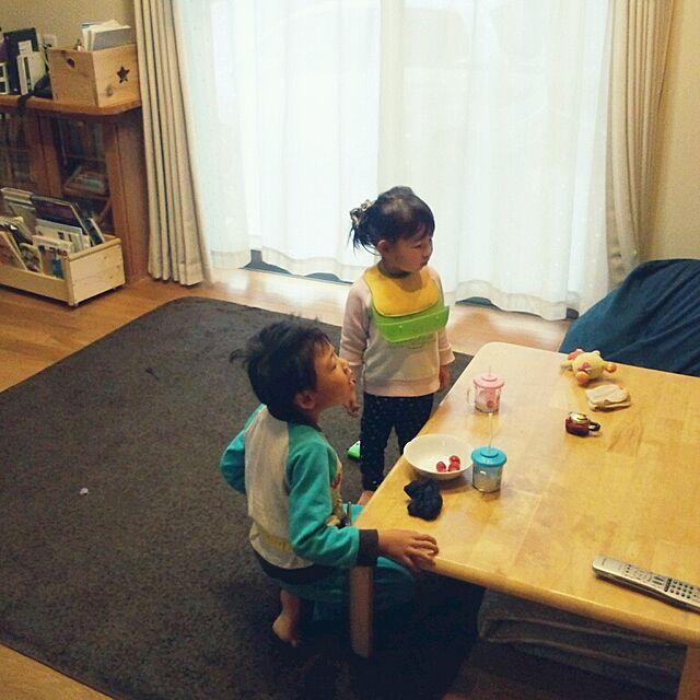 リビング/無垢の床/ナチュラル/子供がいる時/ビーズクッションのインテリア実例 - 2014-03-20 08:54:21