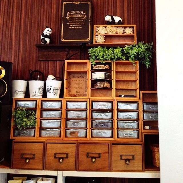 セリア (seria)と整理収納部と野菜室のインテリア実例