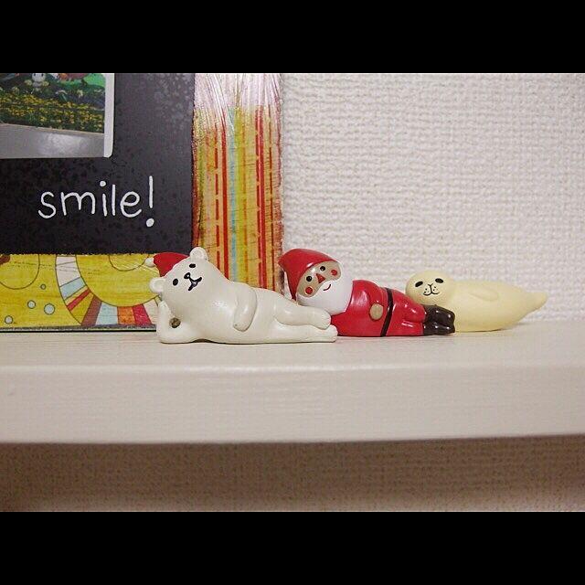 My Shelf,北欧,クリスマス,リサラーソン,賃貸,季節労働者のインテリア実例 | RoomClip (ルームクリップ)
