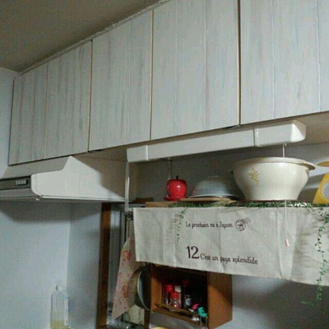 キッチン/リメイク/DIY 原状回復OK/キッチン棚/団地 DIY キッチンのインテリア実例 - 2014-02-16 23:22:05