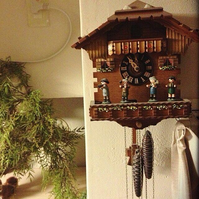 壁/天井/コンテストに参加してみました/鳩時計/時計/娘に一歳の時のプレゼント...などのインテリア実例 - 2014-01-18 21:42:53