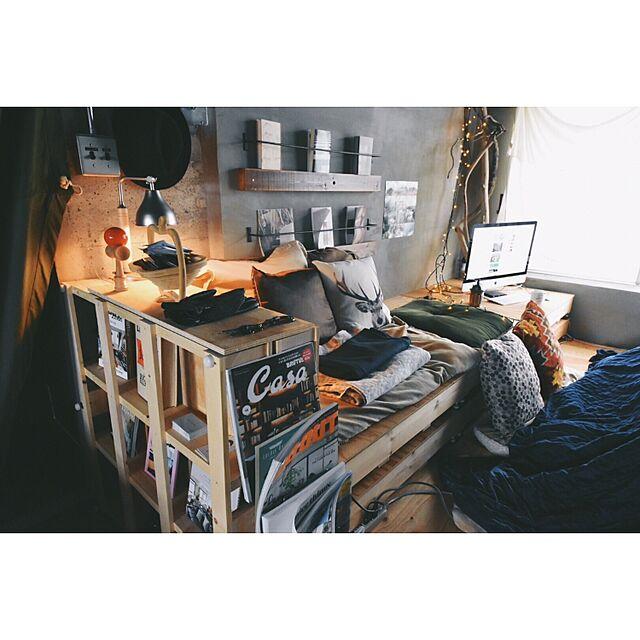 賃貸DIYとメンズ部屋のインテリア実例